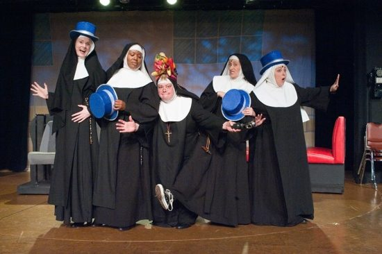 The cast of 'Nunsense' at Toby's Dinner Theatre of Baltimore. Photo by Kirstine Christiansen.