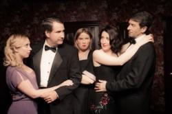 Sibyl (Rachel Holmes), Elyot (Michael P. Sullivan), Louise (Stephy Miller), Amanda (Ann Turiano), and Victor (Darren McDonnell). Photo by Ken Stanek Photography.