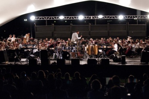 Steven Reineke leading the NSO in the Labor Day Weekend Concert at the Capitol 2011.  Photo courtesy of the NSO.
