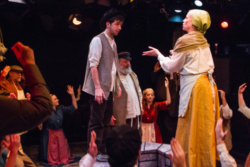 The cast of 'Fiddler on the Roof' at Spotlighters. Photo by Ken Stanek Photography.