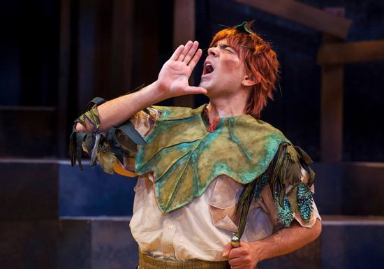 Jonathan Atkinson as Peter Pan. Photo provided by Imagination Stage.