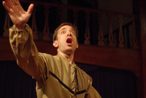 Zach Brewster-Geisz as Bottom. Photo by Chris Cotterman.