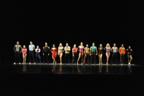 The cast of 'A Chorus Line' at Olney Theatre Center. Photo by Stan Barouh.