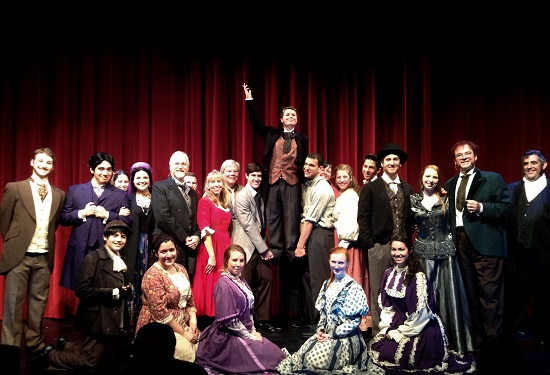 The cast of 'The Mystery of Edwin Drood' at Beth Tfiloh Community Theatre.  Photo courtesy of Beth Tfiloh Community Theatre.
