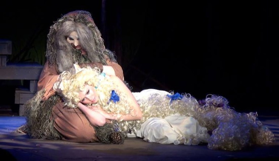 Katrina Sillaman as the Witch and Carol Anne Drescher as Rapunzel. Photo provided by Catherine Nix Thomas.