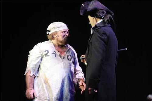 David Michael Felty and Thomas Adrian Simpson. Photo courtesy of Riverside Dinner Theatre.