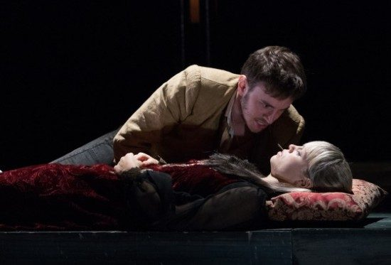 Michael Goldsmith as Romeo and Erin Weaver as Juliet. Photo by Teresa Wood.