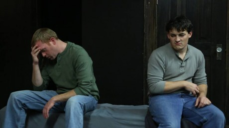 Chad W. Fornwalt as Katurian and Chris Daileader as Michal. Photo by Harvey Levine.