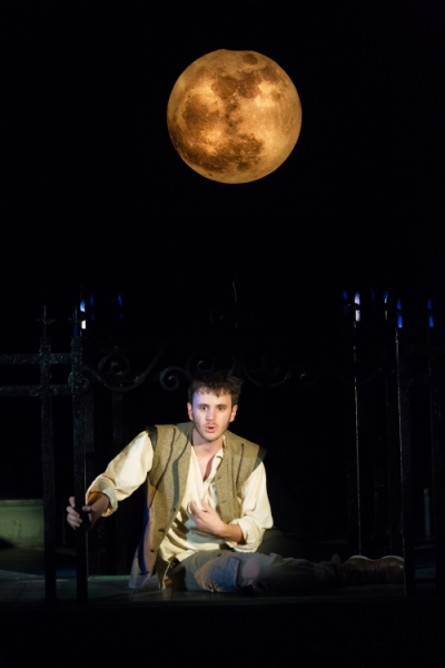 Michael Goldsmith as Romeo in Folger Theatre's production of Romeo and Juliet. Photo by Jeff Malet.
