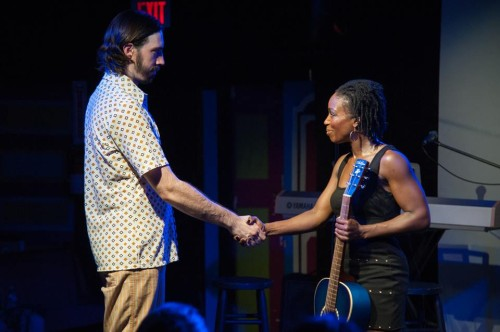 Vaughn Irving (Jesus) and Felicia Curry (Mary).  Photo courtesy of the Fringe.