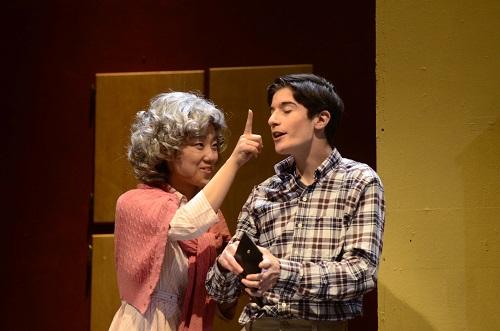Michiko Feehan as Mama, Marc Cioffi as Rick.  Photo by Joe McCary.