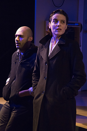 Maboud Ebrahimzadeh as Nick and Lisa Hodsoll as Miller. Photo: Igor Dmitry.