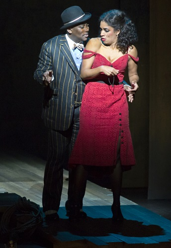 Kingsley Leggs (Sporting Life) and Alicia Hall Moran (Bess). Photo by Michael J. Lutch.