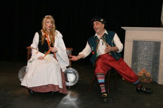 Stephanie Santell (Cinderella) and Allan Brown (Buttons). Photo by J. Andrew Simmons.