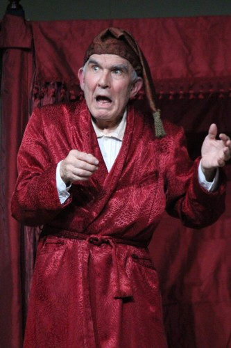 Fred Lash as Scrooge.  Photo by Eddy Roger Parker.