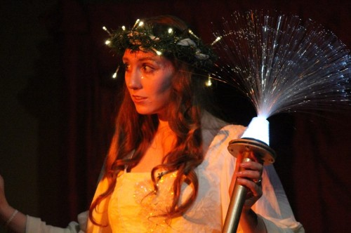 Valerie Chamness as Ghost of Christmas Past. Photo by Eddy Roger Parker.