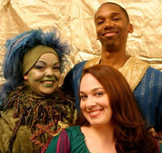 Holly Gibbs as Gustaf, Vanessa Kinzey as Princess Astrid and Derek Cooper as Prince Erik.  Photo provided by Pumpkin Theatre.