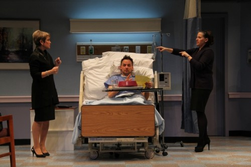 Naomi Jacobson (Rita), Marcus Kyd (Curtis), and Kimberly Gilbert (Lisa). Photo by Danisha Crosby.