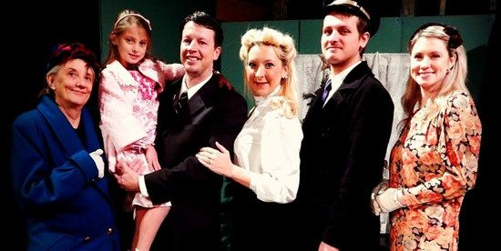 Cast members of It's A Wonderful Life. Photo provided by Front & Centre Stage.