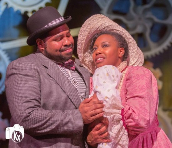 Malcolm Lee (Coalhouse Walker Jr) and Aerika Saxe (Sarah). Photo by Kx Photography.