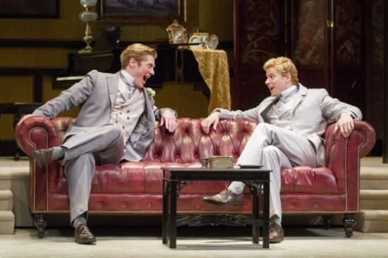 Gregory Wooddell as Jack and Anthony Roach as Algernon. Photo by Scott Suchman.