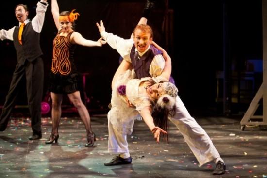 Philip Fletcher as Orsino and Irina Tsikurishvili as Viola. Photo by Koko Lanham.