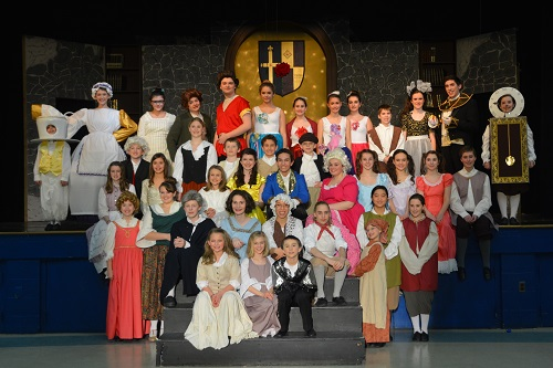 The cast of 'Beauty and the Beast Jr.' at Aldersgate Church Community Theater.  Photo courtesy of ACCT.