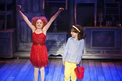 Presley Ryan as Little Cee Cee and Brooklyn Shuck as Little Bertie. Photo by Margot Schulman.