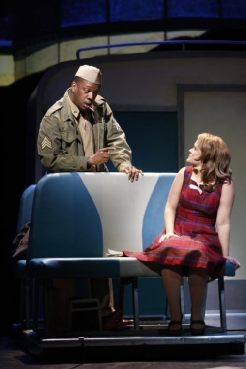 Kevin McAllister and Erin Driscoll in Violet. Photo by: Carol Rosegg