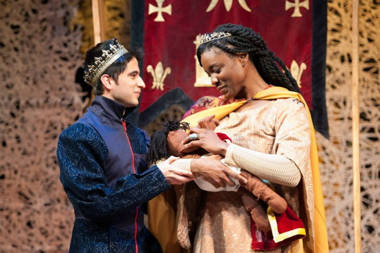 Jason Glass as the King and Katherine Renee as the Queen. Photo provided by Imagination Stage.