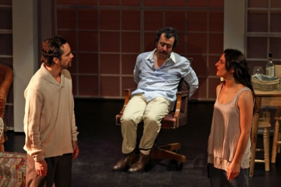Gerardo Escobar,  Erto Pantoja, and Antonia Zegars.  Photos courtesy of LA MAFIA Teatro.