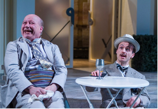 Brian Reddy as Sir Toby Belch and Richard Hollis as Sir Andrew.  Photo by Richard Anderson.