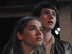 Eli Pendry as Romeo and Sydney Maloney as Juliet. Photo provided by Compass Rose Theater.
