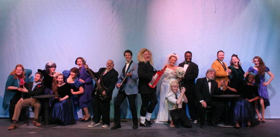 The cast of 'The Wedding Singer.' Photo provided by Port Tobacco Players.
