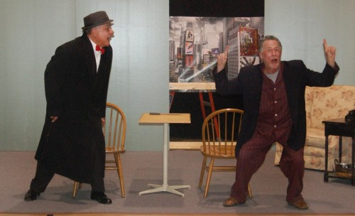 Tom Wines as Al Lewis and Jeff Larsen as Willie Clark in the Twin Beach Players production of 'The Sunshine Boys.' Photo courtesy of Twin Beach Players.