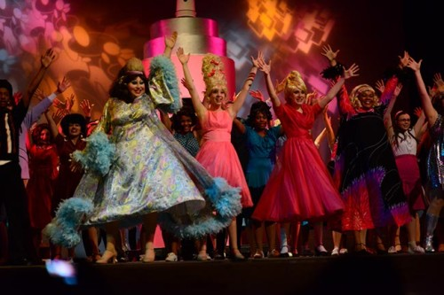 """You Can't Stop the Beat"" from Wootton's Hairspray featuring Edna (Jeffrey Morse), Amber (Jackie Kempa), Velma (Meghan Wright) and Motormouth Maybelle (Aaliyah Dixon).  Photo by Joe McCary."