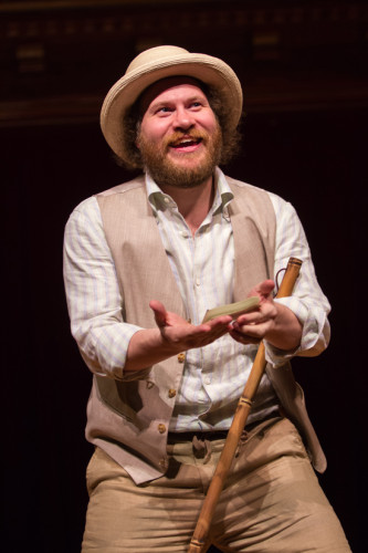 Andy Grotelueschen stars Lance in Fiasco Theater's The Two Gentlemen of Verona at the Folger Theatre April 17 – May 25, 2014. Photo by Teresa Wood.