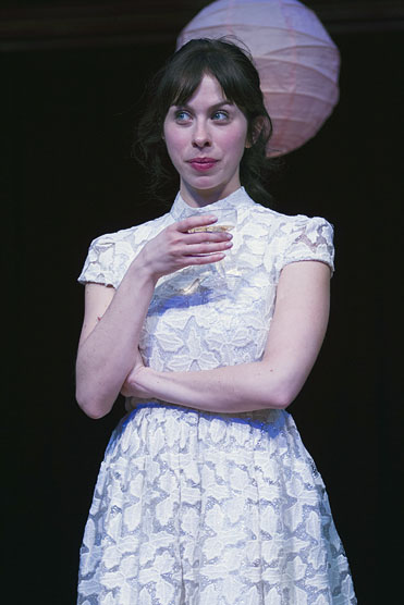 Emily Young is the beautiful Sylvia, the woman who has captured the hearts of two men. Photo by Teresa Wood.