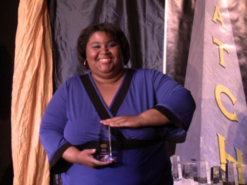 Jade Jones, winner Outstanding Performance as a Featured Actress in a Musical for her role as Nell Carter in Ain't Misbehavin' at Elden Street Players