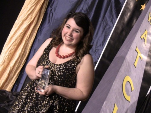 Shannon Kingett, winner, Outstanding Performance as a Lead Actress in a Musical for her role as Tracy Tumblad in Little Theatre of Alexandria's production of Hairspray.