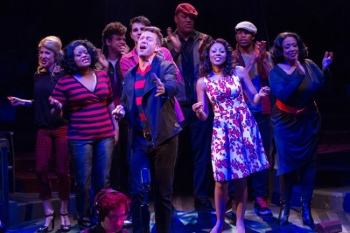 The cast of Smokey Joe's Café—The Songs of Leiber and Stoller at Arena Stage at the Mead Center for American Theater. Photo by Teresa Wood.