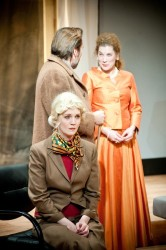 Danielle Davy, Eric Lucas and Kerry Waters in 'Hedda Gabler.'. Photo by Mason Summers.