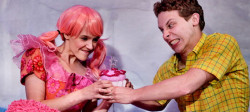 Carolyn Agan as Pinkalicious and John Sygar as Peter. Photo provided by Adventure Theatre MTC.