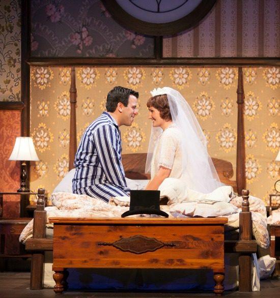 Michael (Craig Laurie) and Agnes (Daniella Dalli) on their wedding night