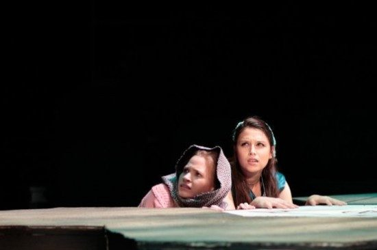 Maggie Irwin and Rebecca Hausman play sisters in 'She Kills Monsters.' Photo by Daniel Corey.
