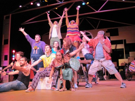 The cast of Godspell. Photo courtesy of the production.