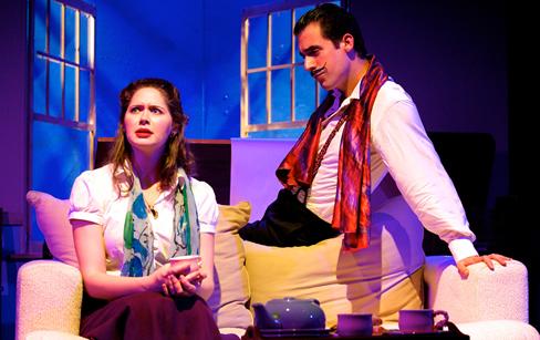 Jenny Donovan (Alice) and Zachary Fernebok (Salavador Dali). Photo by Ryan Maxwell.