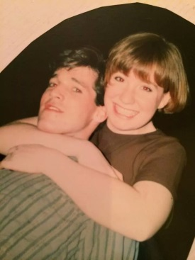John and Maggie at Boston College working on Evita around the time they first started to know each other.