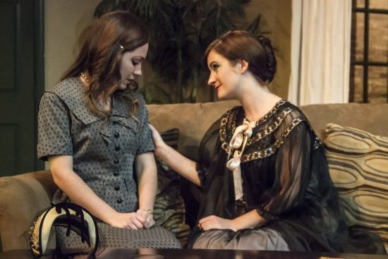 Sarah Ferris as Thea, Katie Culligan as Hedda. Photo by  St. Johnn Blondell.