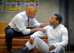 Roscoe Orman and Eddie Ray Jackson in 'Fetch Clay, Make Man' at Round House.